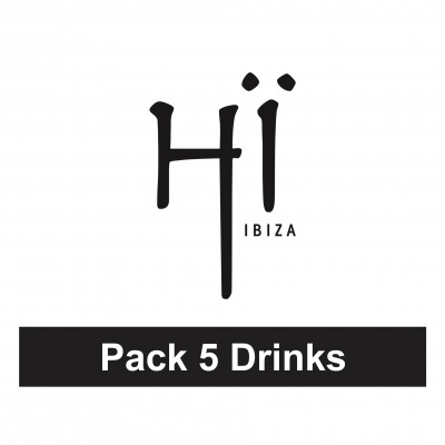 Pack 5 drinks at Hï Ibiza (entry not included) image
