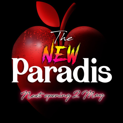 cartel opening party Es paradis club, opening Ibiza 2020