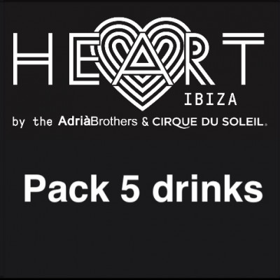 Pack 5 drinks at Heart Ibiza
