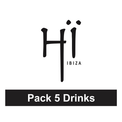 Pack 5 drinks at Hï Ibiza